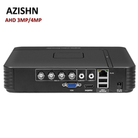 Surveillance AHD 4MP DVR 4CH 8CH H 264 Mini Hybrid 5 In 1 AHD TVI CVI