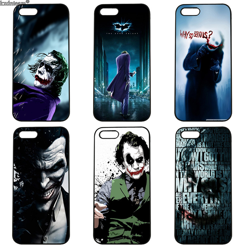 Batman Joker Dark Knight Cell Phone Case Hard PC Cover Fitted for iphone 8 7 6 6S Plus X 5S 5C 5 SE 4 4S iPod Touch 4 5 6 Shell