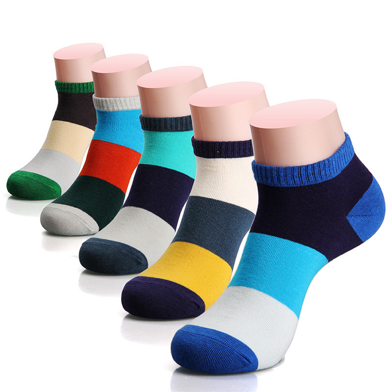 5 Pairs/lot High Quality Low Cut Short Man Socks Men's Gift Sock Cotton Spring Summer Ankle Socks