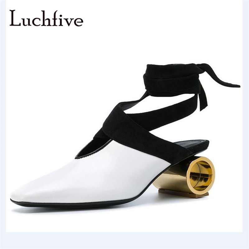 New hollow Cylinder heels women pumps genuine leather sexy pointy toe female shoes fashion lace up outwear classic shoes womenNew hollow Cylinder heels women pumps genuine leather sexy pointy toe female shoes fashion lace up outwear classic shoes women
