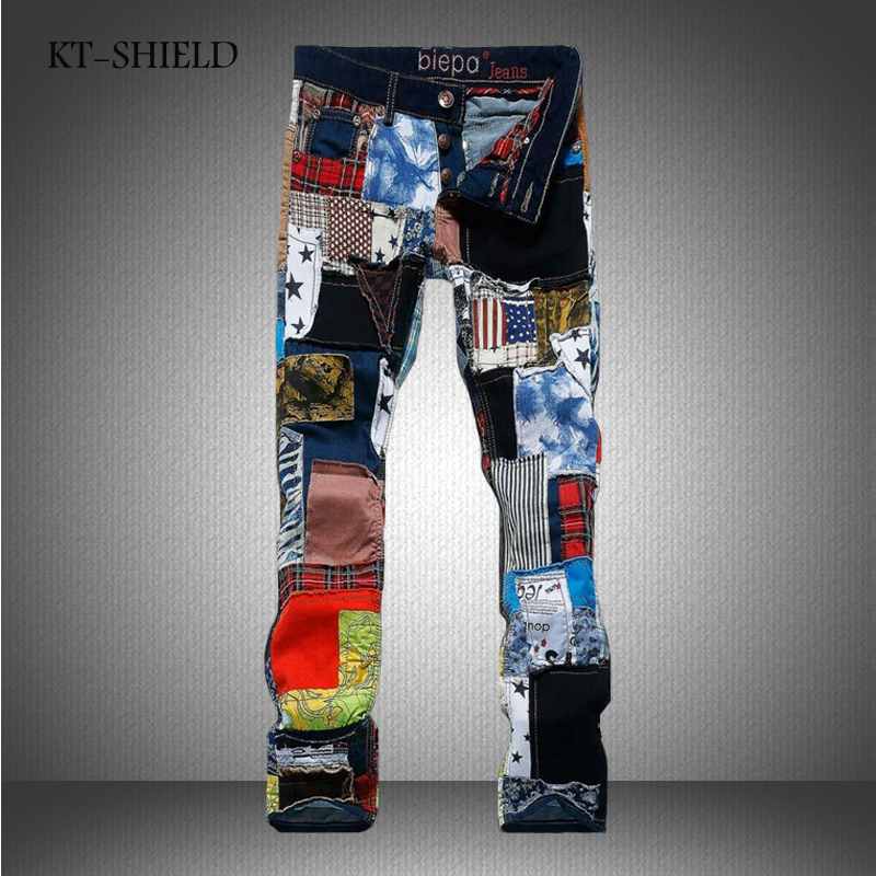 Winter Clothing skinny jeans men vaqueros hombre fashion Colorful jeans Man casual harem pants famous brand cotton Man trousers