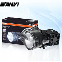 Sanvi PXZ 3inch Bi LED Projector Lens Headlight 38W 6000k auto LED Projector Headlight for Car Motorcycle Headlamp Retrofit kit free shipping vland factory top value car auto parts for mitsubishis lancer headlight xenon projector headlamp