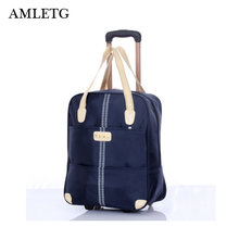 AMLETG 2019 New Large Baggage Capacity with Duffel Bag Trolley Case and Travel Bag Luggage Backpack Bag Cube Packed Weekend Bags(China)