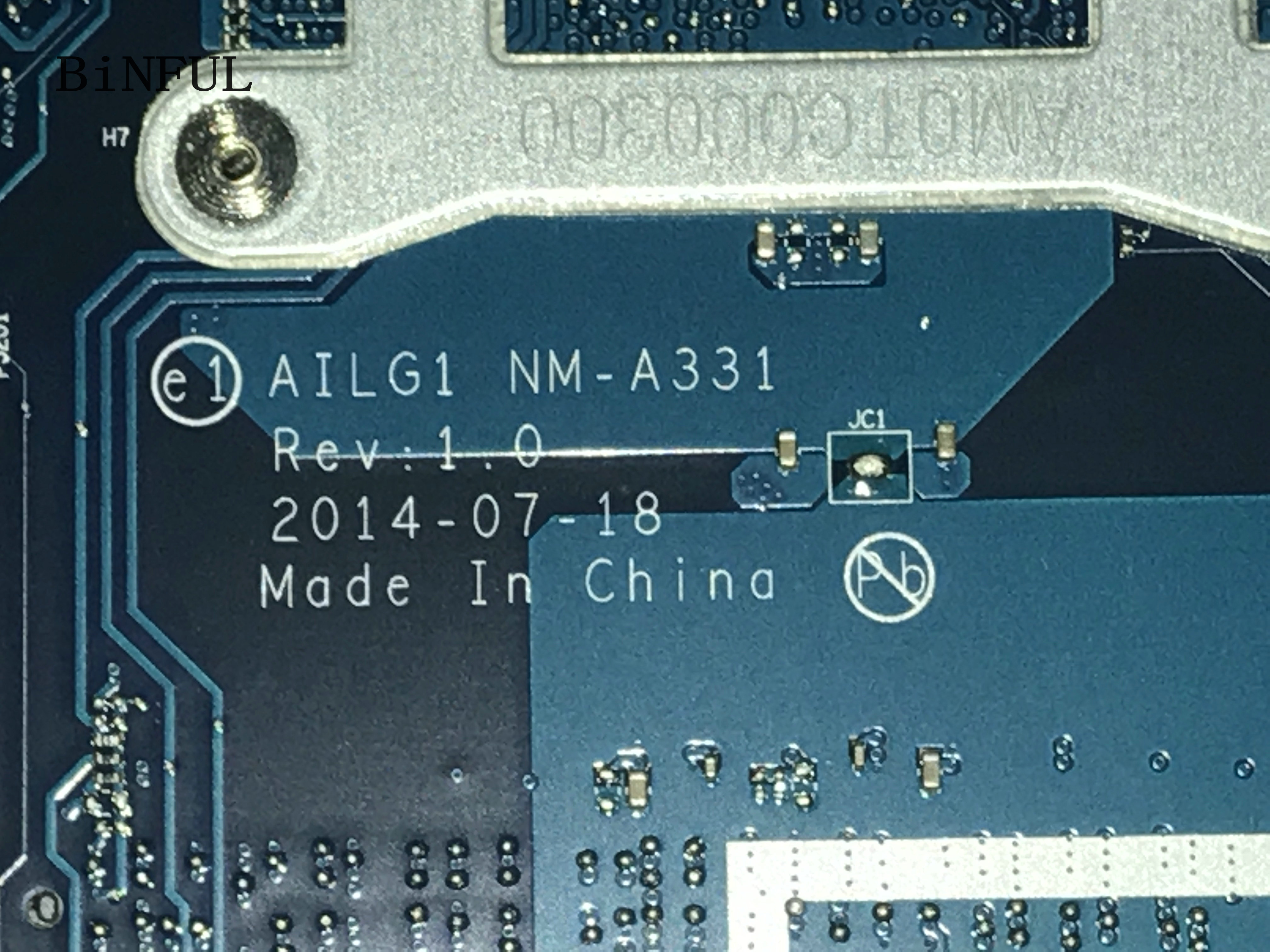 BiNFUL STOCK new item, AILG1 NM-A331 FOR <font><b>LENOVO</b></font> <font><b>G70</b></font>-80 / <font><b>G70</b></font>-<font><b>70</b></font> LAPTOP MOTHERBOARD ,onboard celeron processor,(qualified ok) image