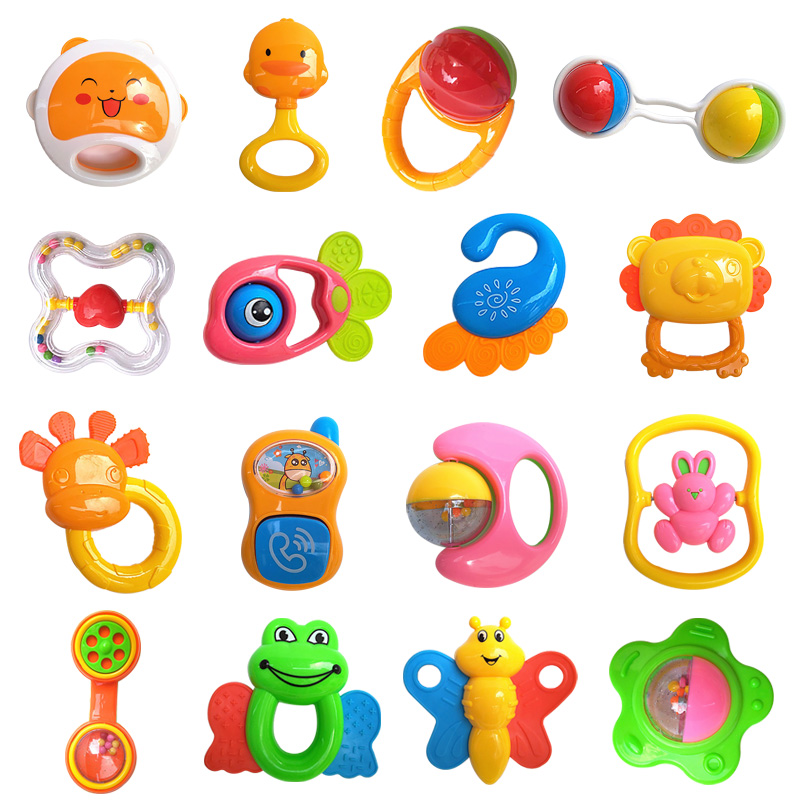 Silicone Baby Rattles Cartoon Animal Teethers Training Toys Kids Safety For Infant Teething Newborn