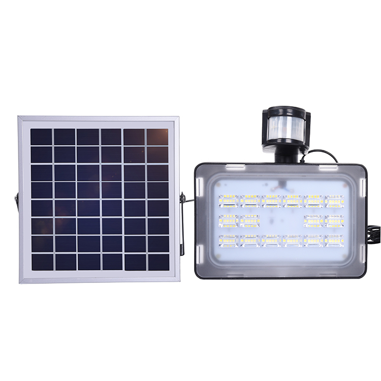 5PCS GERUITE Solar LED Floodlight 30W With PIR Motion Sensor Flood Lights 5730 SMD 1800LM 12V 24V Cold White Outdoor Floodlights free shipping led flood outdoor floodlight 10w 20w 30w pir led flood light with motion sensor spotlight waterproof ac85 265v