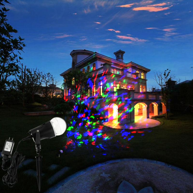 LED Projector Light Flame Stage Party Lighting Lamps for Indoor Outdoor Home Garden Landscape Christmas Festival Decorations