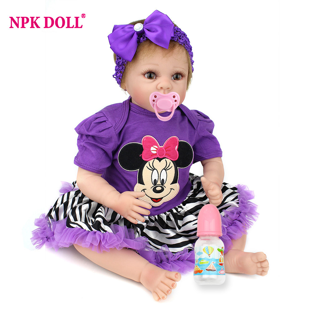 NPKDOLL 55cm Doll Silicone Reborn Handmade Realistic Baby Dolls 22 Inch Vinyl Bebe Reborn Babies Toys