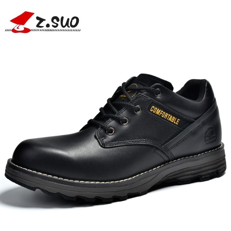 Z. Suo men 's boots, fashion leather man boots, leisure shoes breathable men botas hombre Les vrais bottes zs16500