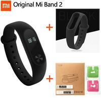 100 Original Xiaomi Mi Band 2 Smart Wristband Bracelet Miband2 Smart Heart Rate Fitness Touchpad OLED