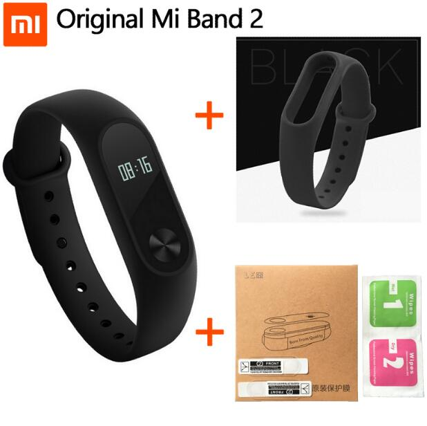 100% original xiaomi Mi Band 2 smart Wristband Bracelet  Miband2 + Smart Heart Rate Fitness Touchpad drop shipping original xiaomi steel net watch band for miband