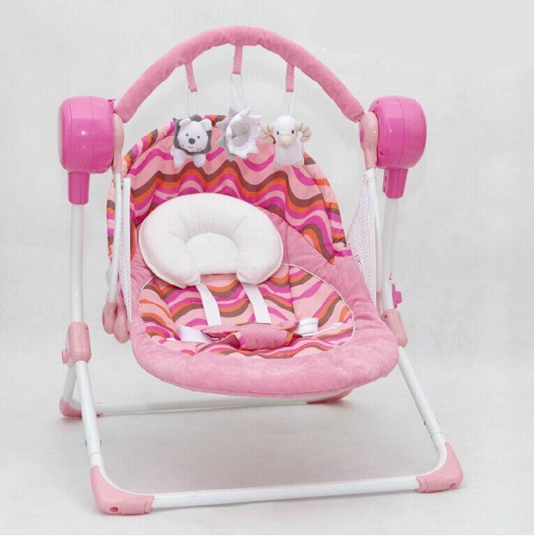 Benken MUCHUAN électrique bébé balancelle musique chaise berçante berceau automatique bébé panier de couchage placarders chaise longue - 5