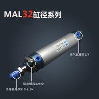 Free Shipping Barrel 32mm Bore 100mm Stroke MAL32 100 Aluminum Alloy Mini Cylinder Pneumatic Air Cylinder