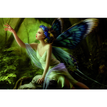 Full Square Drill 5D DIY Butterfly Elf girl in the woods diamond painting Cross Stitch 3D Embroidery Kits home decor H31