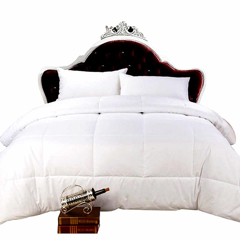 Down Alternative Comforter (White, Queen) - All Season Comforter - Plush Siliconized Fiberfill Duvet Insert - Box Stitched