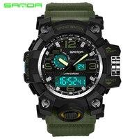 SANDA Military Watch Waterproof Sports Watches Men S LED Digital Watch Top Brand Luxury Clock Camping