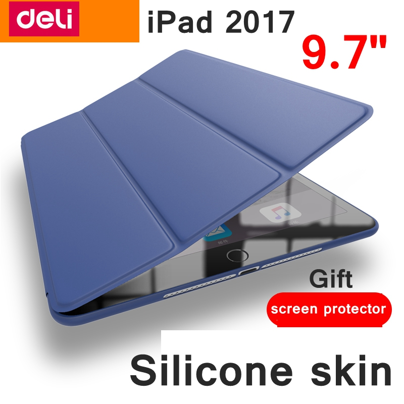 [ReadStar] New Pad 2017 silicone protective case 9.7 laptop skin soft intellegent sleep wake up 1:1 prototype mold case ...