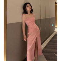 New 2 piece set women summer bodycon crop top and skirt set female sexy pink dot two piece set crop tops outfits high quality