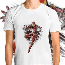 Iron Man Marvel Avengers Modal Unisex ฤดูร้อน Tee O - Neck Hip Hop Tshirts(China)