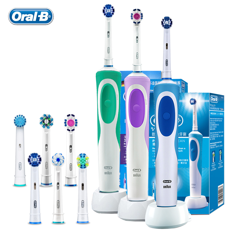 Smart Electric Toothbrush Oral B D12 Series Vitality Rotating Adult Tooth Brush Inductive Recharageable Replacement Brush Heads