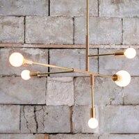 Nordic modern iron chandelier light for dinning room living room bedroom lamp e27 iron fixture hanging lighting modern simple