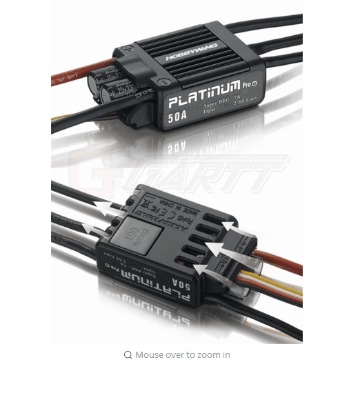 Hobbywing Platinum 50A V3 Brushless ESC For 450 450L font b RC b font font b
