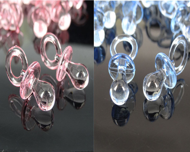 Baby Shower Favors Pacifiers ~ 50pcs small acrylic pacifiers baby shower favors clear for table