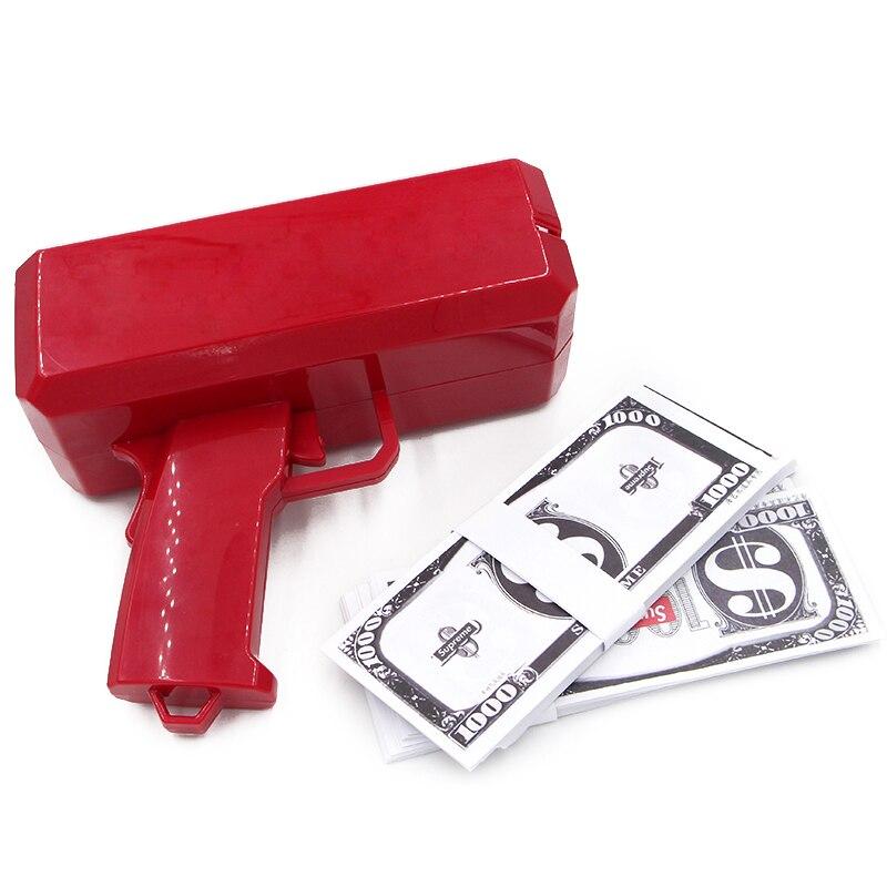 Brand New Cash gun Money Gun SS17 Make It Rain Money toy Gun Red toys rb stuart second marriage make it happy make it last
