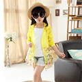 2017 Floral Printed Sun Protection Clothing for Girl Childer n Design Wide Clothing Pendulum Summer Coat Translucent Outwear