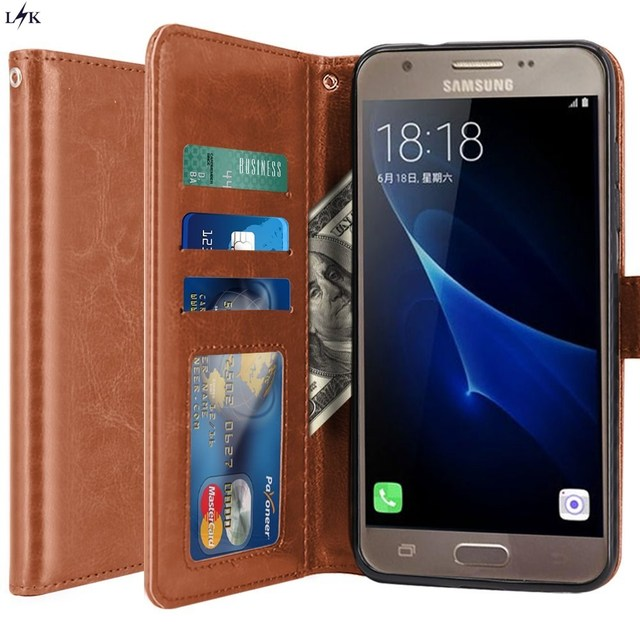 f2faf7057da For Galaxy J3 Emerge Case, LK PU Leather Cases Wallet Flip Protective with  Card Slots and Stand for Samsung Galaxy J3 Emerge