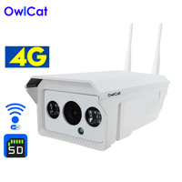 Owlcat 3G 4G IP Camera Sim Card WiFi CCTV Camera PTZ 1080P 960P 4X Optical Zoom