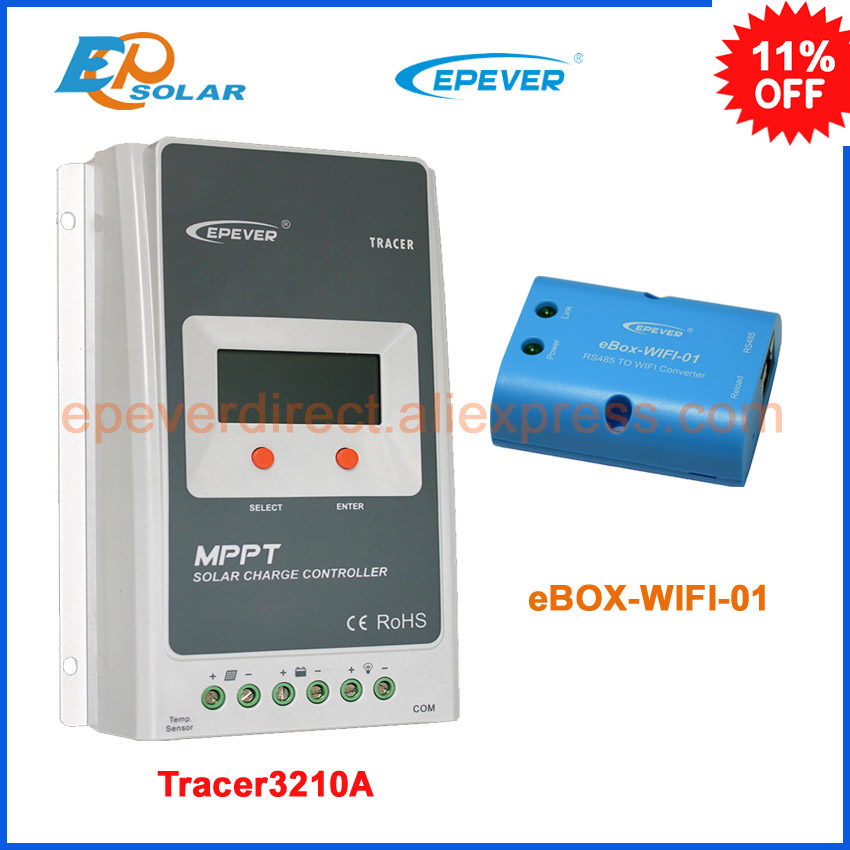 MPPT Solar Charge Controller 30A 12V24V Automatic Transfer Switch LCD Solar Panel Regulator for Solar Power System Battery 3210A portable solar power meter for solar research and solar radiation measurement sm206