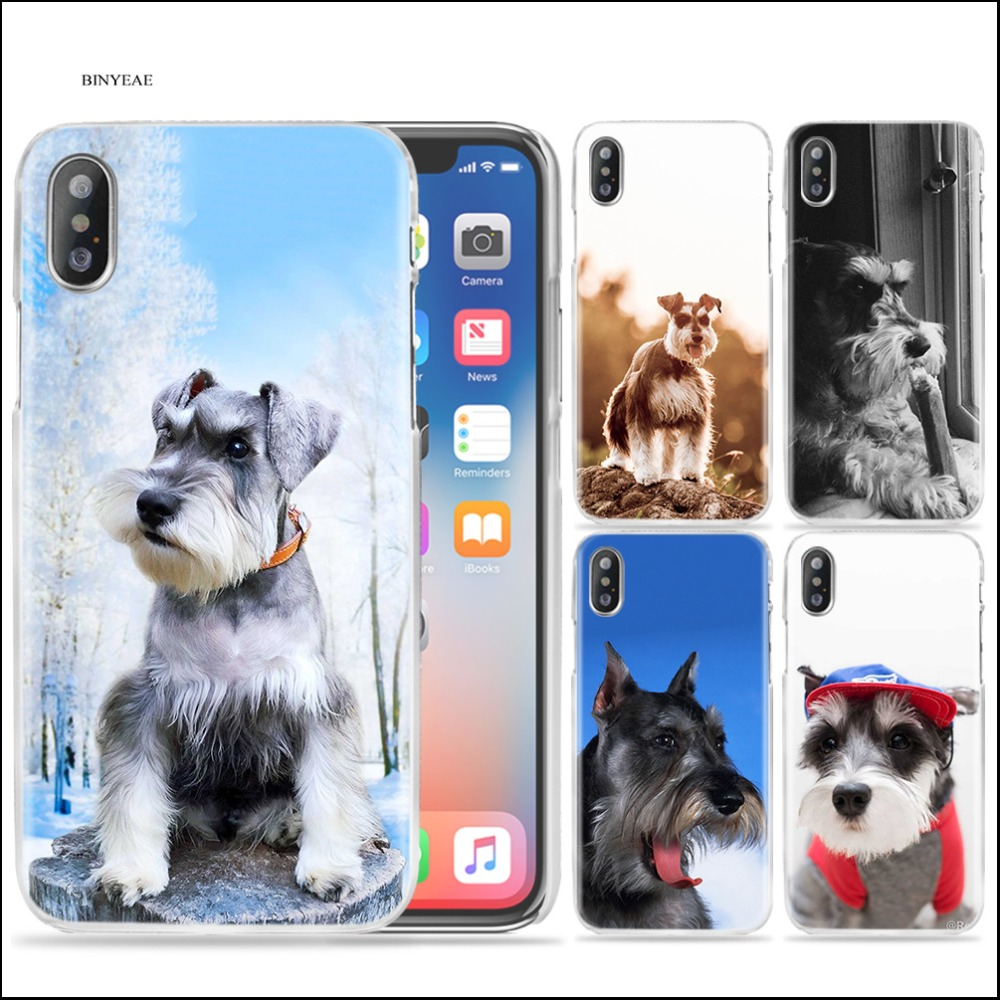 Cellphones & Telecommunications Half-wrapped Case Considerate Binyeae Miniature Schnauzer Dog Art Free Clear Cell Phone Case Cover For Iphone Xs Max X Xr 6 6s 7 8 Plus 5 5s Fundas