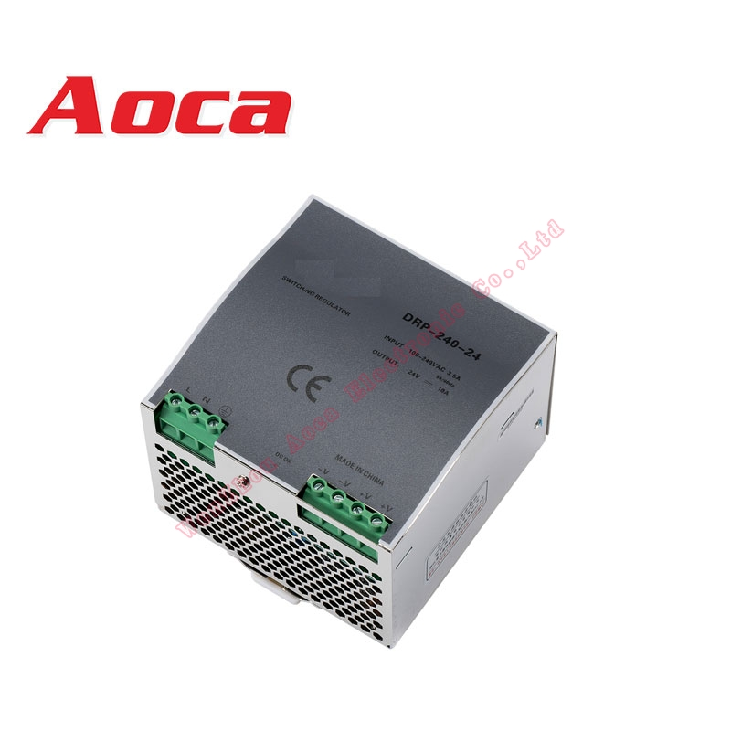 240 W DC 24 V 10A DIN-Rail alimentation 24 V AC 85 ~ 264 v tension d'entrée Smps sortie 24 v alimentation