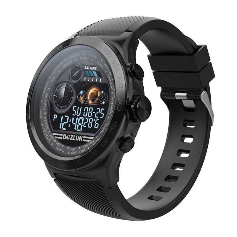 SKMEI hommes Smartwatch numérique Bluetooth Sport montres moniteur de fréquence cardiaque Fitness sommeil Tracker étanche mâle montre bracelet intelligente - 2
