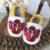 Nova Chegada do Outono Puro Handmade Bebê Recém-nascido Branco com Impressão Animal Decoração Couro Genuíno Low Top Adorável Primeira Walker