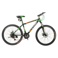 New Style 26 Inches 21 Speed Exercise Road Bike Wholesale Double Disc Brake Thumb Shifter Mountain Bike