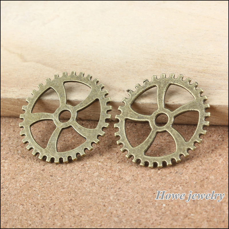 wholesale 12 pcs ancient bronze steampunk gear alloy