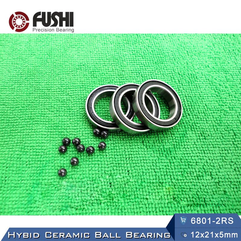 6801 Hybrid Ceramic Bearing 12x21x5 mm ABEC-1 ( 1 PC ) Bicycle Bottom Brackets & Spares 6801RS Si3N4 Ball Bearings 6801 2RS 7805 2rsv 7805 angular contact ball bearing 25x37x7 mm for fsa mega exo raceface shimano token bb70 raceface bottom brackets page 1