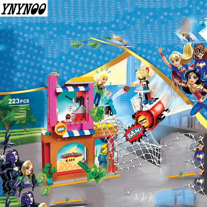 YNYNOO Bale 10617 223pcs NEW DC Marvel Avengers Super Heroes Girl Series Harley Quinn Building Block Toys Children