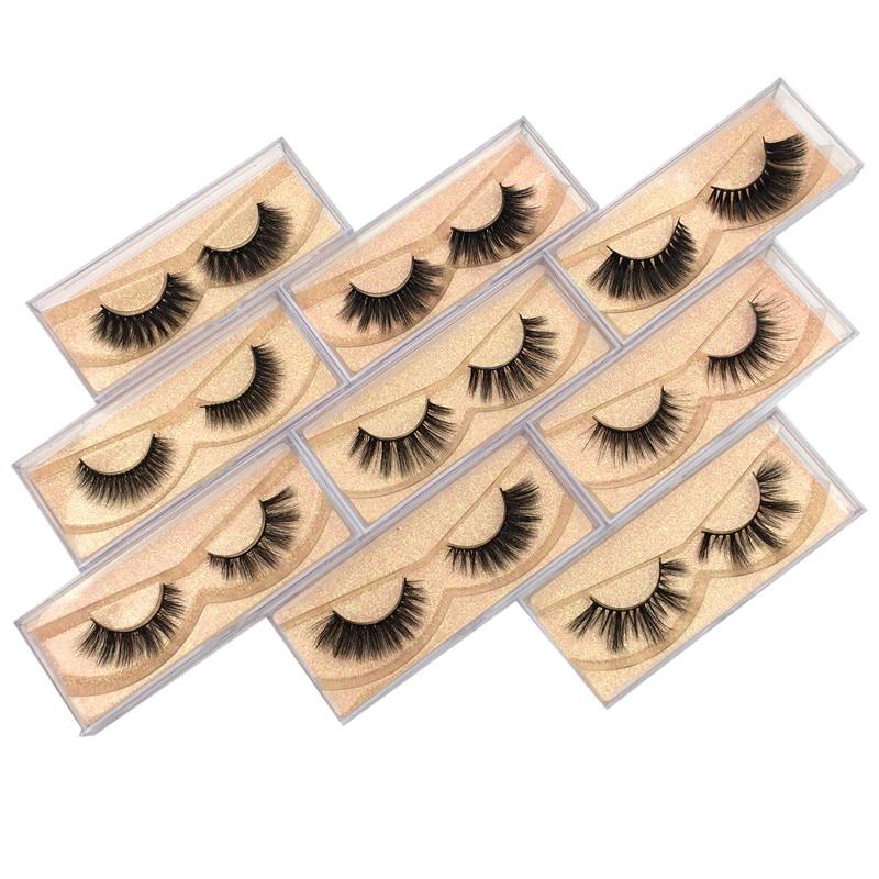 Buzzme 50 Pairs Wholesale 15 Style Eyelashes Crisscross 3D faux Mink Lashes Handmade Eye lashes
