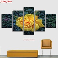 5pcs full square mosaic,5d diamond painting Yellow rose diy diamond embroidery crafts home decoration Y3208