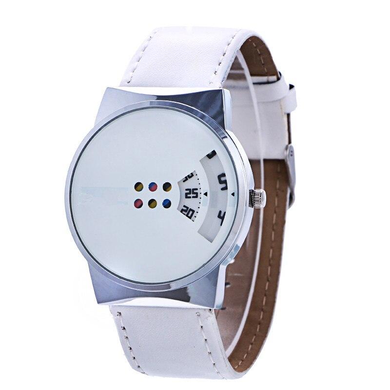 2018 New Arrive White&Black Leather Watches Men Women Dress Quartz Wristwatch Relogio Feminino leather men women watches fresh new style woman wristwatch