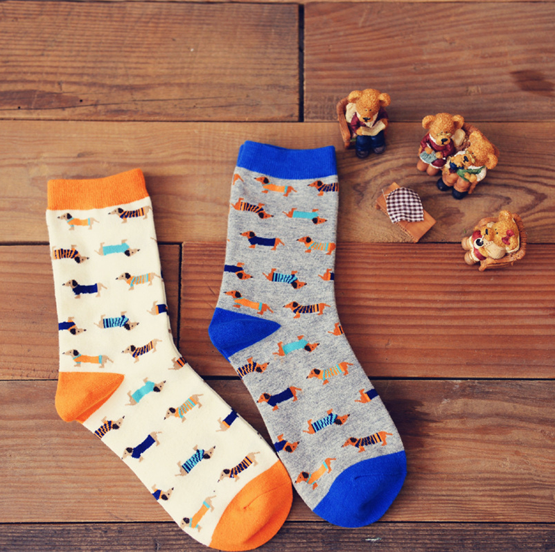 Adult Size Creative animal socks Sausage dog dachshund Lovely hvalp hush pup puppy huisdier pet retail Cute wholesale zoo Come