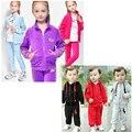 2pcs/set baby & kids clothes sets Polo Velvet sports spring autumn children unisex clothing set  vetement enfant fille outfits