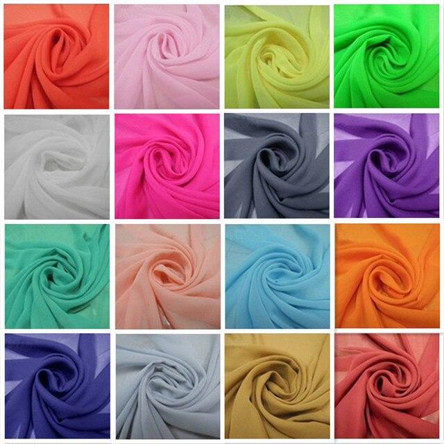 Stoff Färben freies verschiffen 102 farben auf lager chiffon stoff weiches gewebe