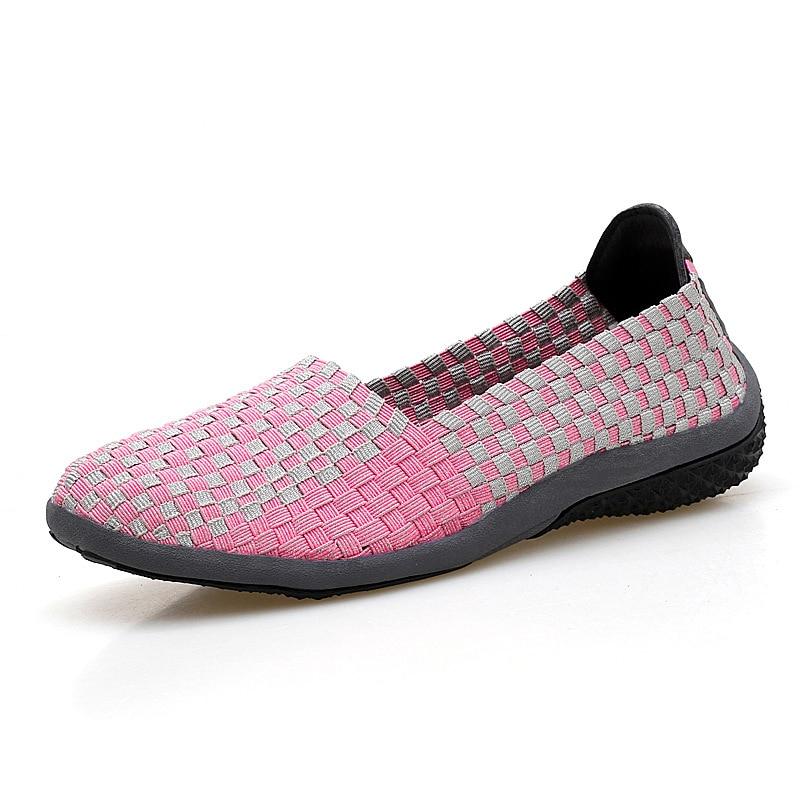 2017 Women Flat Sandals Shoes Women Woven Shoes Flats Flip -3980