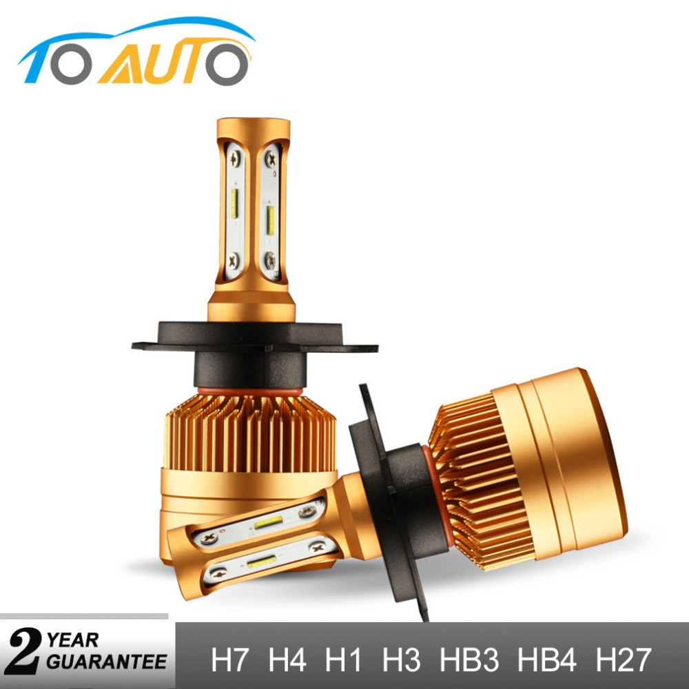2Pcs H7 LED H4 H1 H3 H11 H8 HB4 9006 HB3 9005 H27 Car LED Headlight Bulbs with Philips Chip Auto Lamp Fog Lights 6000K 12V 24V