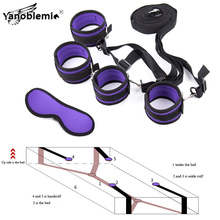Bdsm Set Under Bed Bondage Restraint System Sex Toys For Woman Handcuffs Ankle Cuffs Eye Mask Adult Games Erotic Accessories