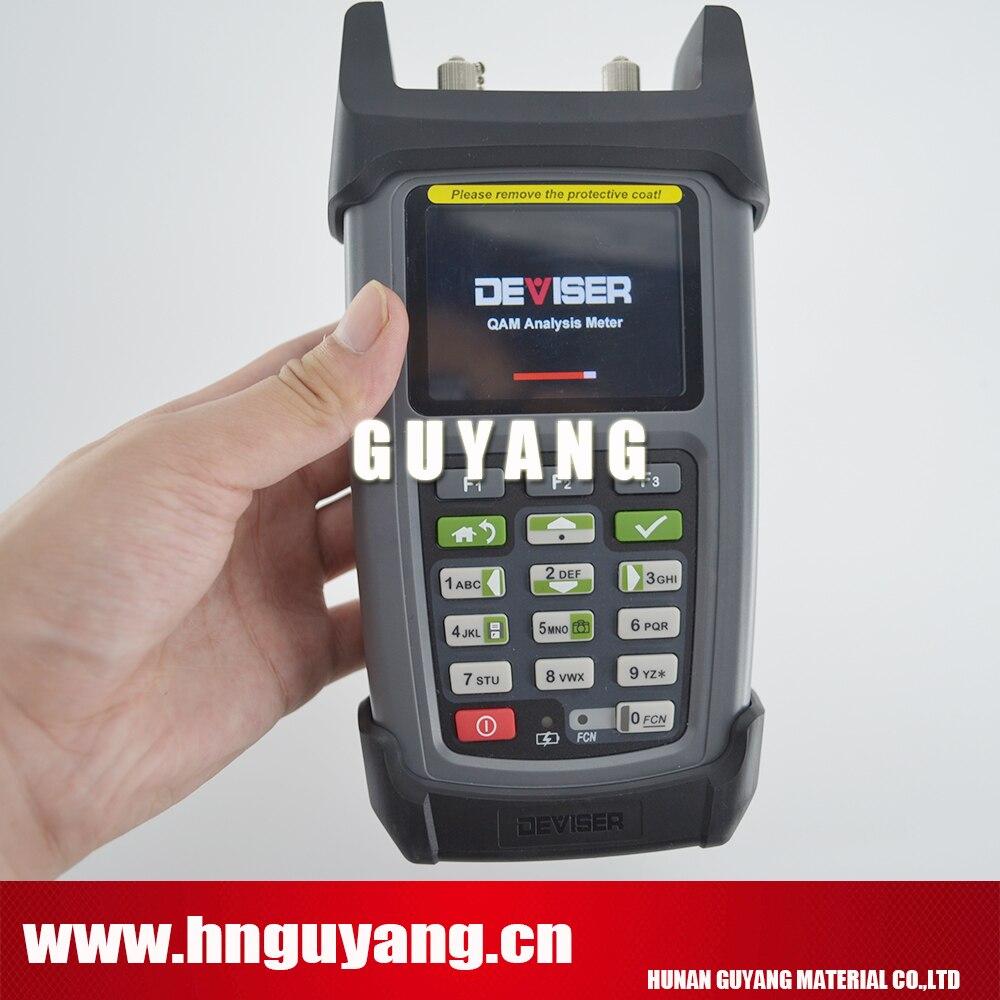 Deviser DS2460Q catv mètre QAM analyse compteur de niveau de Signal analyse rapide du spectre, 5 ~ 1220 MHz